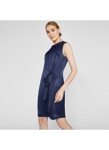 Vekem-Limited Edition Kolsuz Midi Elbise Lacivert